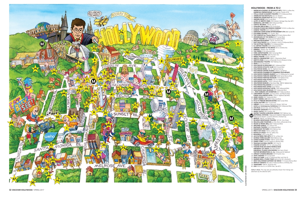 Discover Hollywood Map